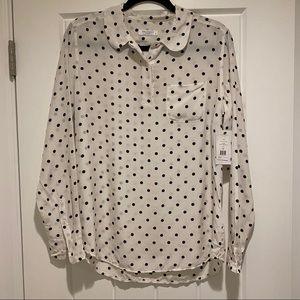 Equipment polka dot blouse